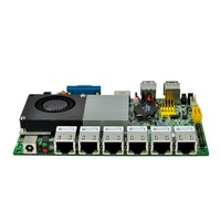 6 gigabit nics Qotom Core i3 6th Generation motherboard Q6100UG6 P AES NI Kabylake Platform 12V Secure Key Low Power