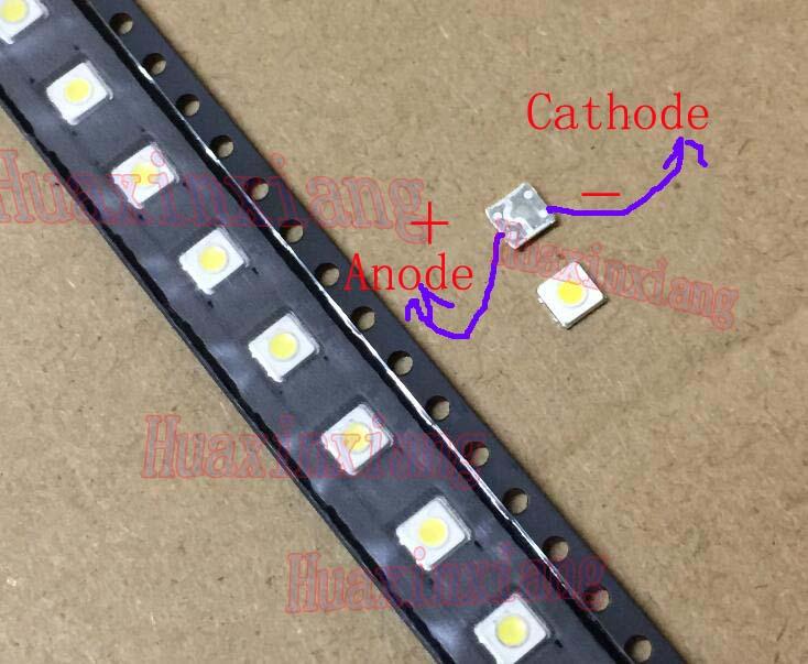 100PCS/Lot  SMD LED 3535 3V 1W 3537 100LM Cold White For TV Backlight