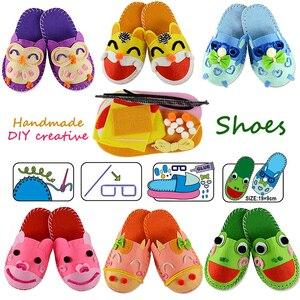DIY Handmade Cartoon slippers