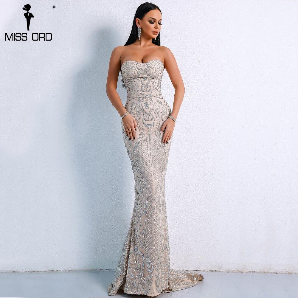 Missord 2018 Sexy Elegant Christmas Off Shoulder Glitter Backless Geometry Female Floor-Length Party Dress FT8911-1