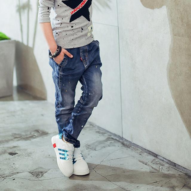 Splash Ink Styled Jeans for Boys