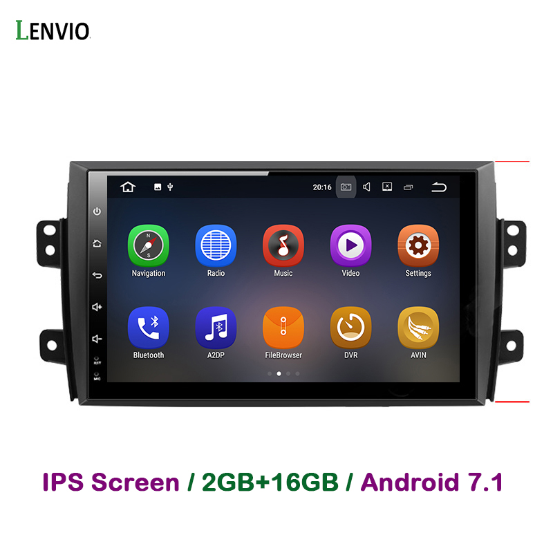 Lenvio 2G RAM <font><b>Android</b></font> 7.1 Auto Radio CAR multimedia DVD GPS Navigation Player For <font><b>Suzuki</b></font> <font><b>SX4</b></font> <font><b>2006</b></font> 2007 2008 2009 2010 2011 2012 image