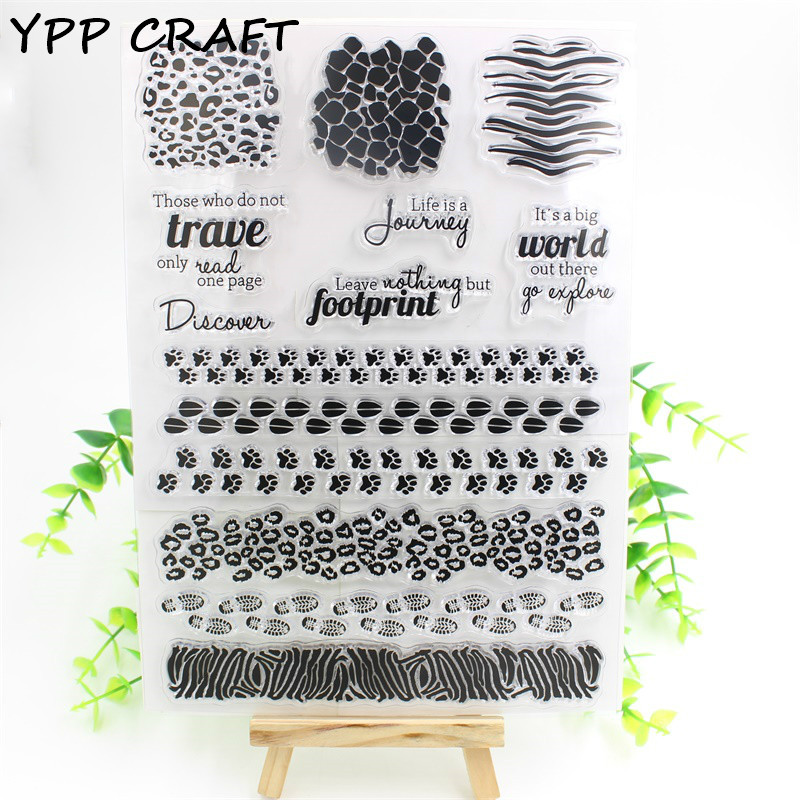YPP CRAFT 1 Sheet Journey Transparent Clear Silicone Stamps for DIY Scrapbooking/Card Making/Kids Fun Decoration Supplies Flower kscraft butterfly and insects transparent clear silicone stamps for diy scrapbooking card making kids fun decoration supplies