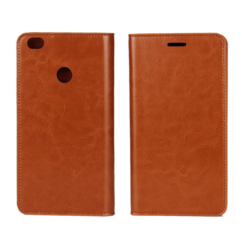 Business Crazy Horse Funda de cuero genuino para Xiaomi Max Mi Max - Accesorios y repuestos para celulares - foto 4