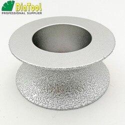 DIATOOL Dia75mmX30mm Pół okrągły Diament Lutowane Próżniowo RĘCZNY Profil Koło Kamienia Sztucznego Kamienia Ceremics Szkła Betonu