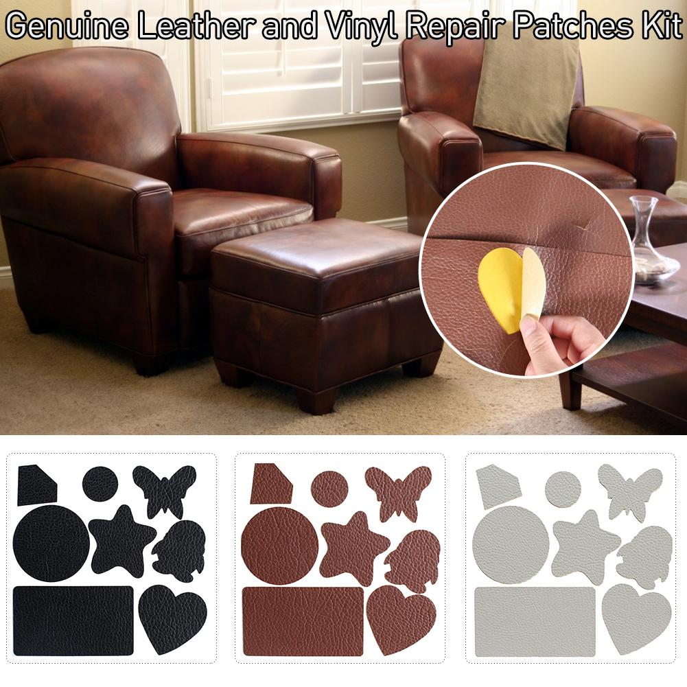 Professional Self Adhesive Stick-on Patch Genuine Leather Sofa And Vinyl Repair Kit Grain Self Adhesive Leather image