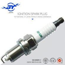 Marca (4X) SK20BR11 & 90919-01230 styling Iraurita Vela vela de Ignição Do Carro de boa qualidade 9091901230
