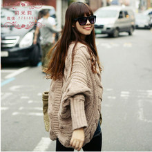 Free shipping New Fashion 2019 Women Autumn Winter Cardigans Black Beige Pink Gray Camel Loose Shrugs Sweater(China)
