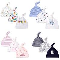3 pcs muito Bebê Chapéus Equipado Padrão Dos Desenhos Animados Chapéu Do Bebê Para O meninas Do Bebê de Algodão Macio Tampões Para Os Meninos Do Bebê Recém-nascido Fotografia adereços