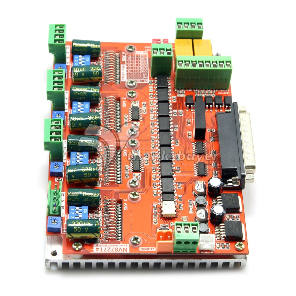 LV8727 V4 NV8727T 4 Axis 4 0A Stepper Motor Driver Controller Board for Engraving Machine CNC