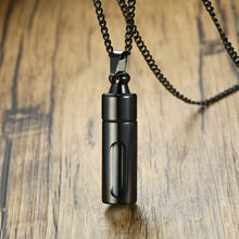 ZORCVENS Men Glass Cylinder Aromatherapy Essential Oil Perfume Pendant Necklace Cremation Stainless Steel Male choker Jewelry(China)