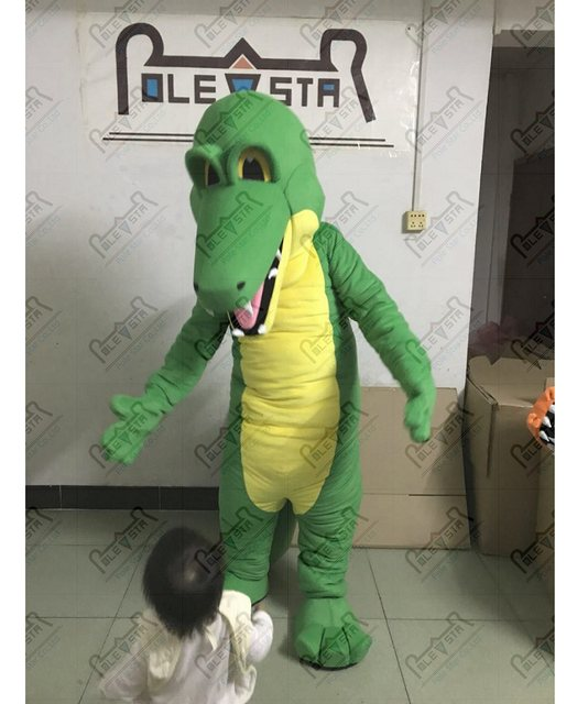 EVA foam head quality crocodile mascot costumes cartoon green dinosaur mascot costumes & Online Shop EVA foam head quality crocodile mascot costumes cartoon ...