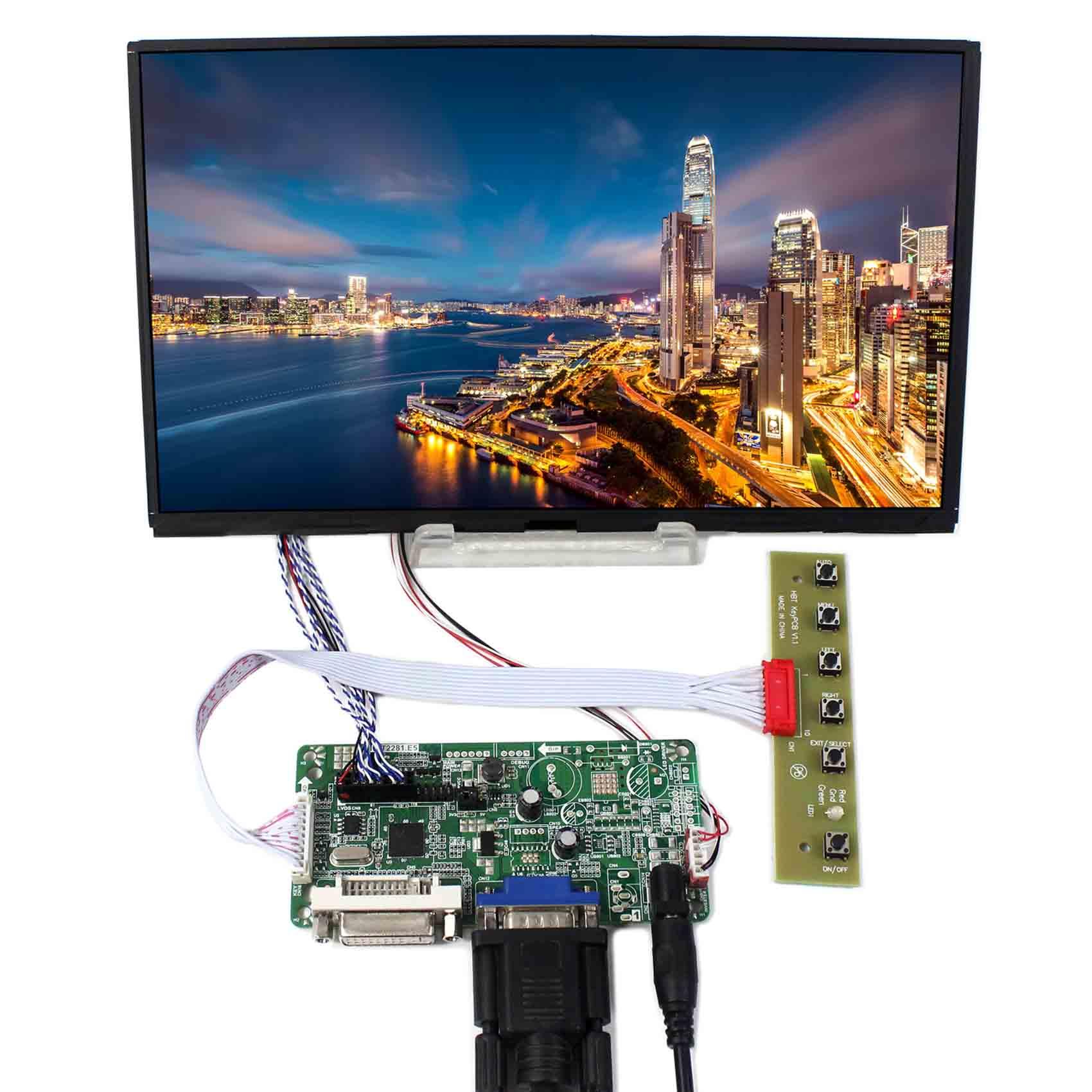 DVI VGA LCD Controller Board With 10.1inch 1366x768 B101XAN01 IPS LCD Panel