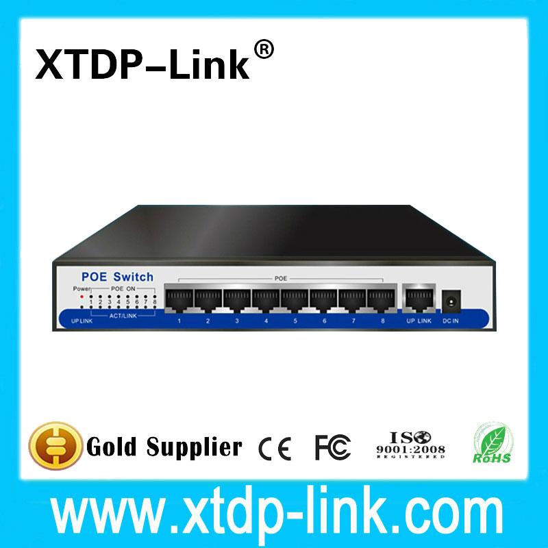 Prix pour Ieee 802.3af poe 8ch commutateur power over ethernet réseau rj45 lan hub commutateur poe 8 port d'alimentation pour mini cctv caméras ip