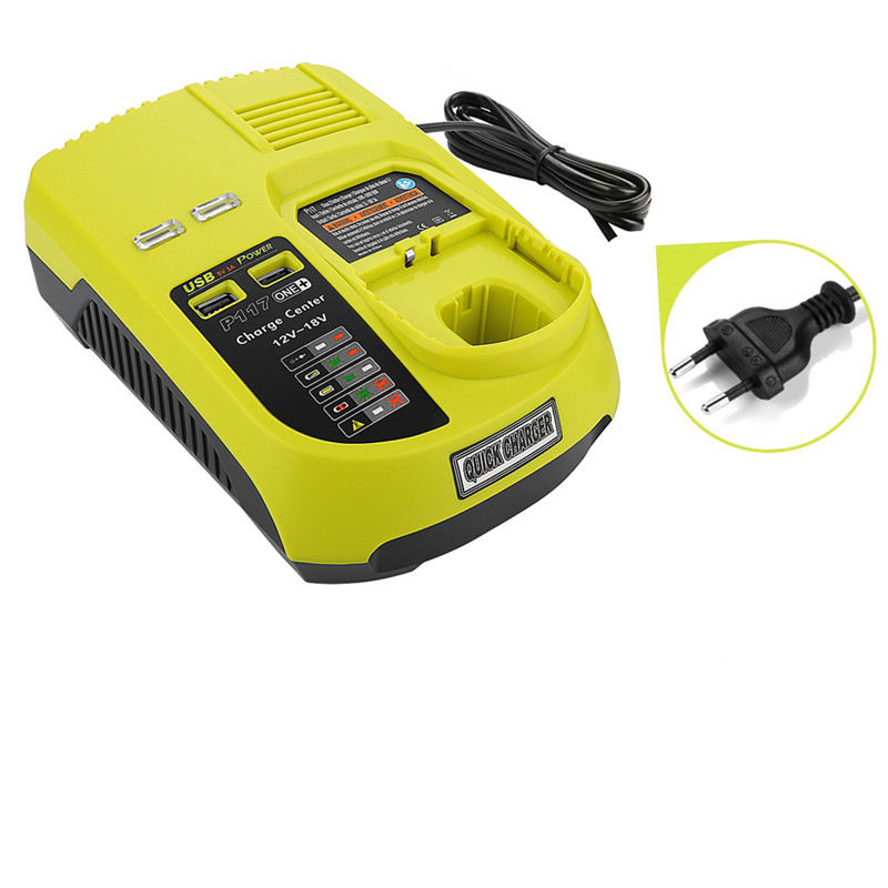 For RYOBI Battery Charger 12 14.4v 18V Ni-CD Ni-MH Li-ion P110, P111, P107 P108 for Ryobi one+ Battery P117 high quality цена