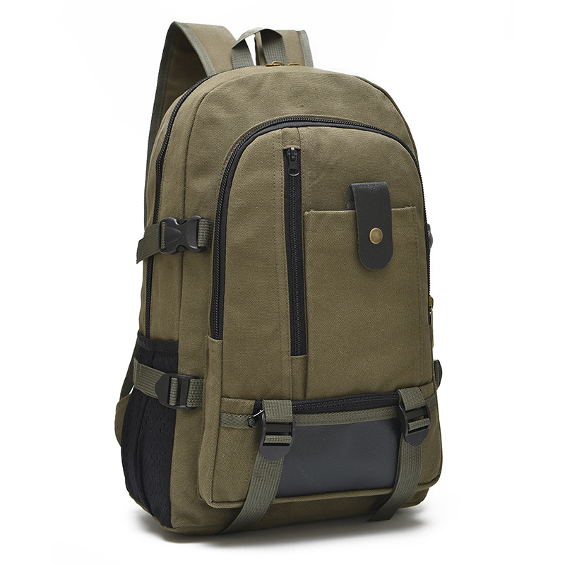 Man's Canvas Backpack Travel Schoolbag Male Backpack Men Large Capacity Rucksack Shoulder School Bag Unisex Canvas Backpack
