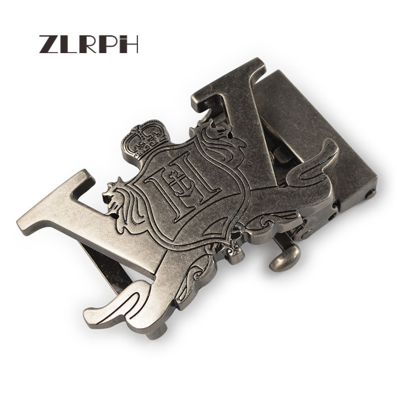 ZLRPH High-grade Retro Alloy Automatic Buckle Antique Do Old Buckle Head Crown Three-dimensional Buckle Wholesale