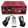 Professiaonl Tattoo Power Supply Set Kit Red Tattoo Power Supply Foot Pedal Switch Tattoo Silicone Clip Cord Tattoo Kit Supply