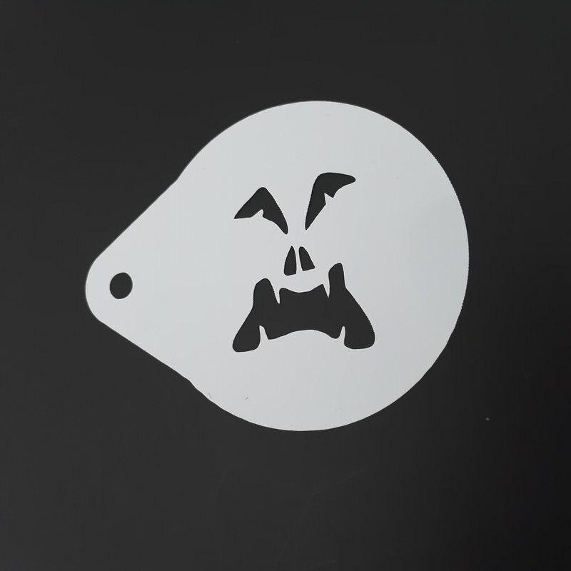 2.8 Inch Hantu Wajah Halloween Kopi Stensil Cookie Latte Art - Dapur, ruang makan, dan bar - Foto 5