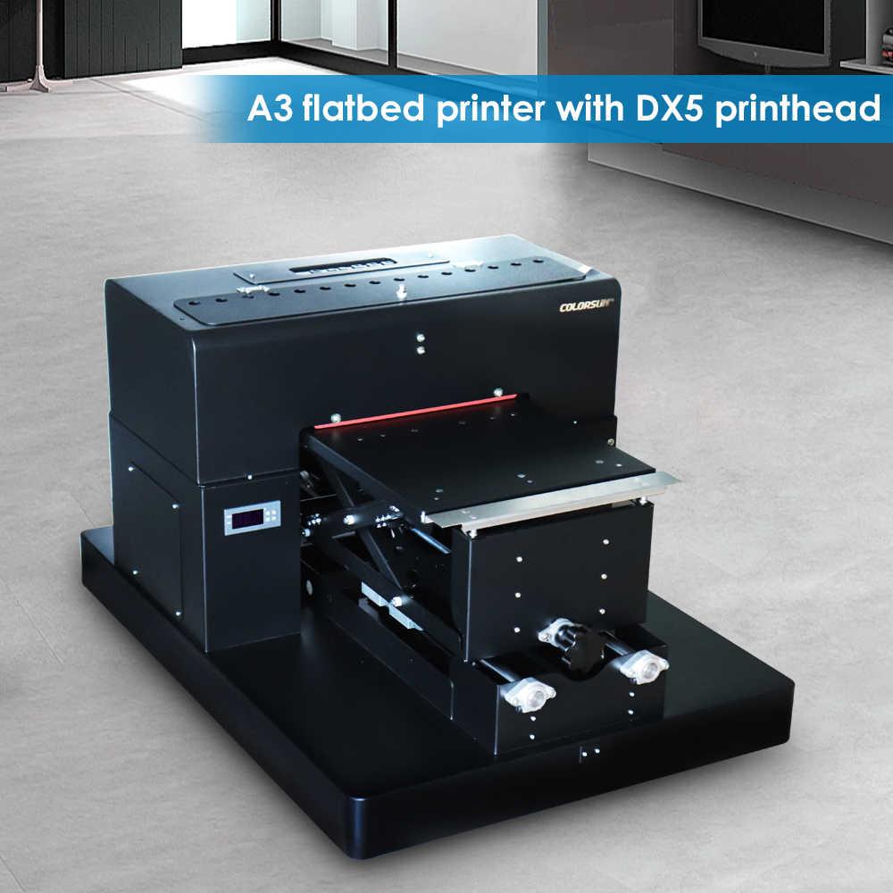 Colorsun 8 color A3 flatbed printer Digital Textile Printer