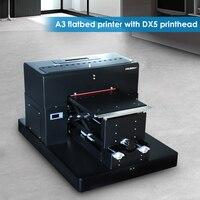 8 color A3 flatbed printer Digital Textile Printer T shirt Printing Machine DTG Printers with DX5 printhead