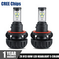 CREE Chips H13 LED Headlights Bulb 60W 6000LM Hi-Lo Beam Car Headlamp DRL Fog Lamp 3000K 4300K 6500K 8000K 10000K 5 Colors DIY