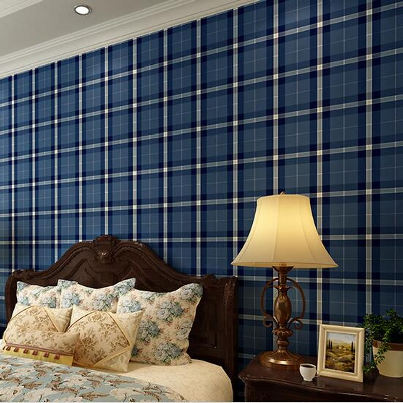 ФОТО beibehang papel de parede England plaid imports Ahlstrom wallpaper Plaid fashion classic plaid backdrop bedroom wall paper