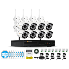 8CH 1080P 2MP IP Camera Wireless Security CCTV System For Home NVR HD wifi Video Surveillance Kits Set wi-fi Led Light IR Cam