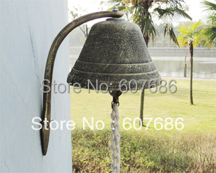 Large Cast Iron Dinner Bell Welcome Hanging Bell Western Farm Ranch Patio Garden Gate Yard Door Bell Big Bell Outside Free Ship