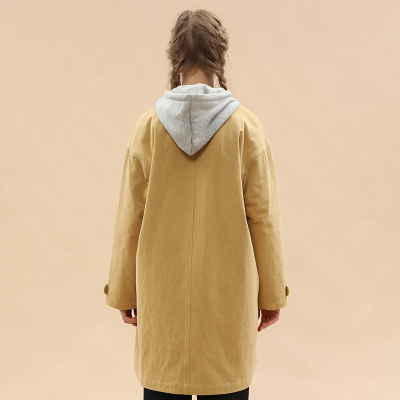 Due Inverno Modi Cachi Primavera Indossare Di Spessore Donna Rimovibile Outwear Nuovo Cappotti Disegno Trench Cotton Caldo Foderato Casual Coat qExA7Zna