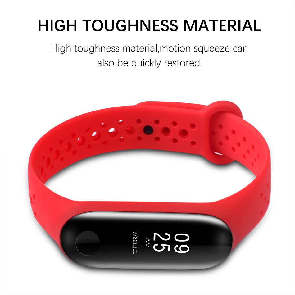 BOORUI for xiaomi miband 3 strap sports mi band 3 accessories breathable m3 wrist strap Smart Electronics Wearable Devices