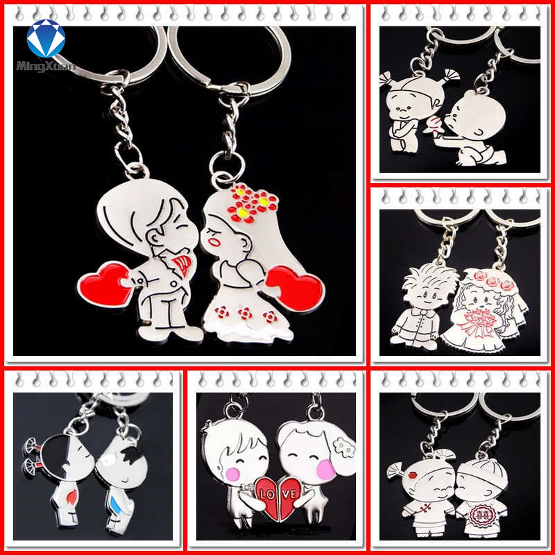 Novelty Items Casual Par Kärlek Keychain Cartoon Key Chain Lovers - Märkessmycken - Foto 1