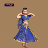 Sari Girls Dress Set Orientale Enfant Indian Jewelry Costumes For Kids Oriental Belly Dance Dancer Clothes Deadpool Egypt