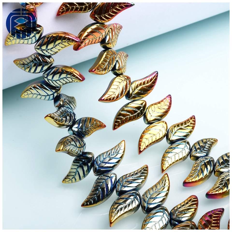 JuleeCrystal Little Wings 8x18mm 30PCS Colorful Lampwork Wings Beads for Jewelry Making