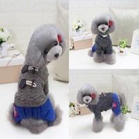 Kleine Honden Kostuum Kleding Voor Little Honden Overalls Hond Kat Warm Met Dikke Jas Kleding Brief Printing Vest