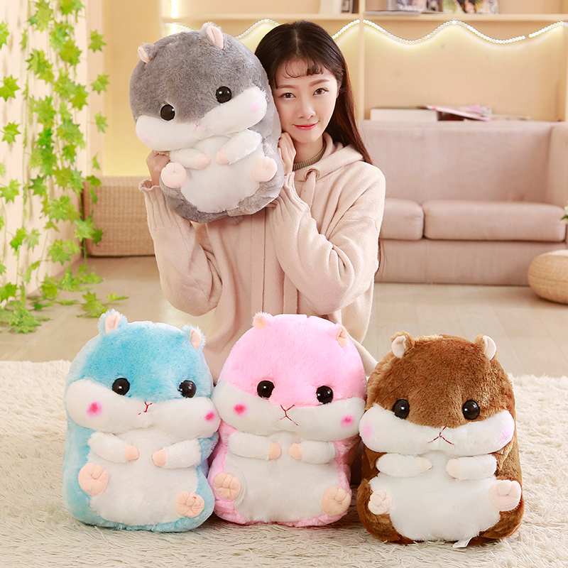 Cute cartoon hamster plush toy soft mouse dolls stuffed animal toy kids girl birthday gift creative kids talking hamster electronic pet toy 1pc