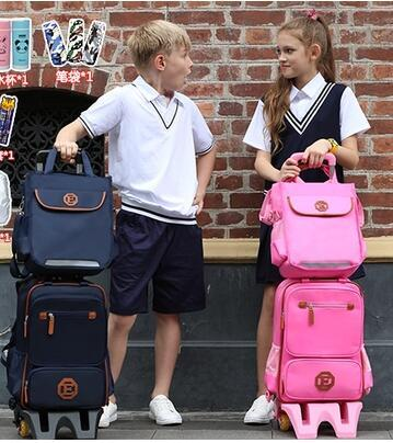 Kids Wheeled Backpack Children Travel Luggage Backpack Bag On Wheels Trolley Backpack For School Girls Rolling Bag With Wheels