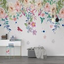Скандинавская маленькая свежая ручная роспись цветочный фон