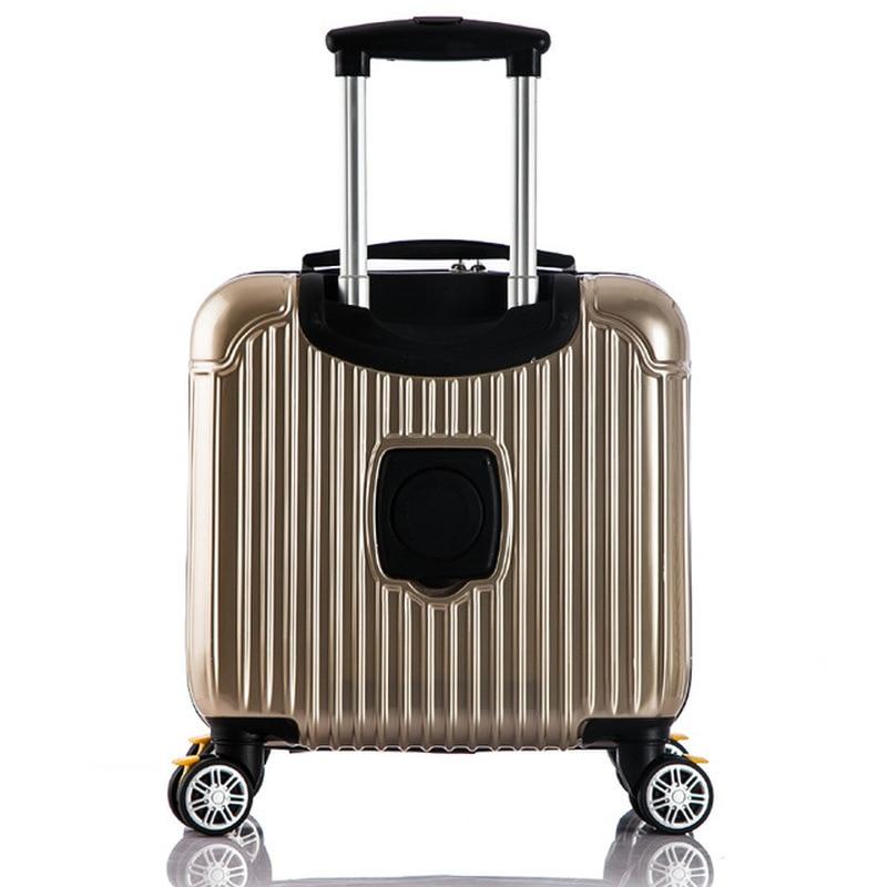 Высокое качество, красочные Гладкий минималистский 16/20/24/28 inch размер ПК Rolling Чемодан Spinner бренд дорожного чемодана - 2