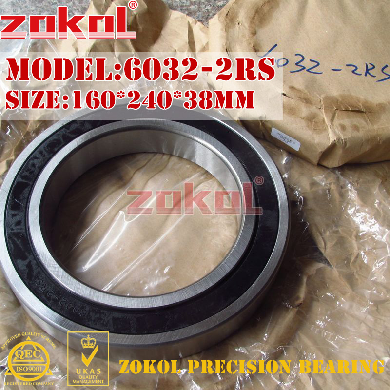 ZOKOL 6032RS bearing 6032 2RS 6032-2RS 180132 Deep Groove ball bearing 160*240*38mmZOKOL 6032RS bearing 6032 2RS 6032-2RS 180132 Deep Groove ball bearing 160*240*38mm