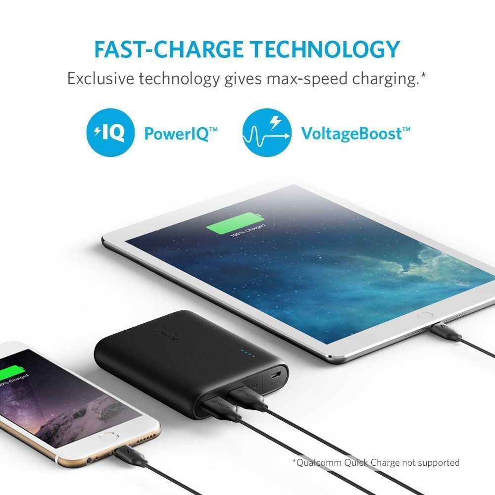 Anker Powercore 13000 Portable Charger Compact 13000mah 2 Port Ultra Samsung Galaxy S9 Free Powerbank Mah 10000 Black Phone Power Bank With Poweriq Technology In From Cellphones