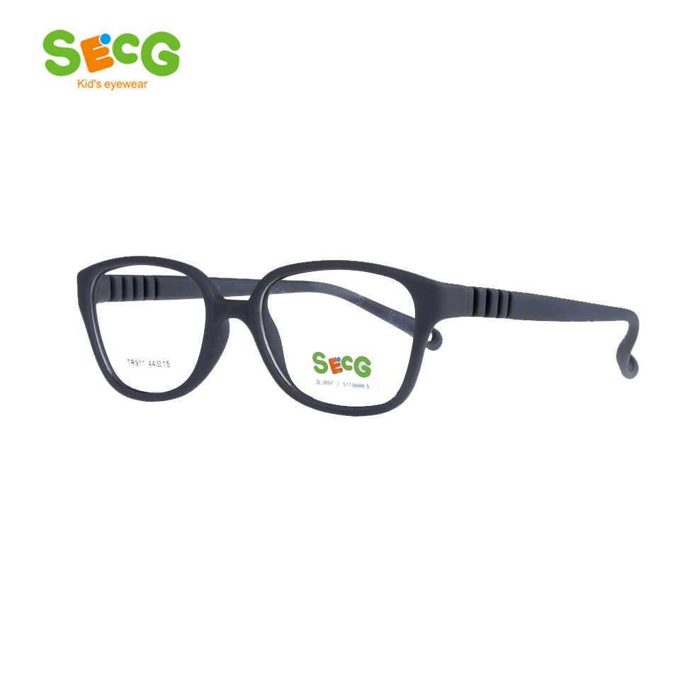 SECG Top Brand Children Prescription Myopia Optical Glasses Frames Resin Glasses For Kids Protective Kids Eyewear TR911
