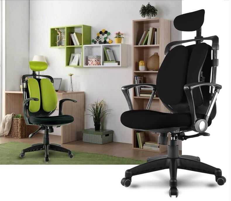 Protection waist Office lift chair meeting room boss rotation stool with headrest retail and wholesale free shipping