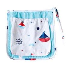 31x31cm Stroller Hanging Bag For Infant Baby Bed Organizer Cotton Storage Bag on Baby Crib