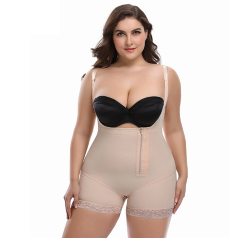 726ba8fbda S 6XL Plus Size Hot Womens Body Shaper Post Liposuction Girdle Clip and Zip  Bodysuit Vest Waist Shaper Reductoras Shapewear-in Tops from Underwear ...