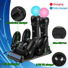 PS4/Slim/Pro PS Move Joystick Controller Charger Charging Dock Station for Sony Play Station 4 Games PSVR Move PS 4 Accessories just dance 2017 только для ps move ps3