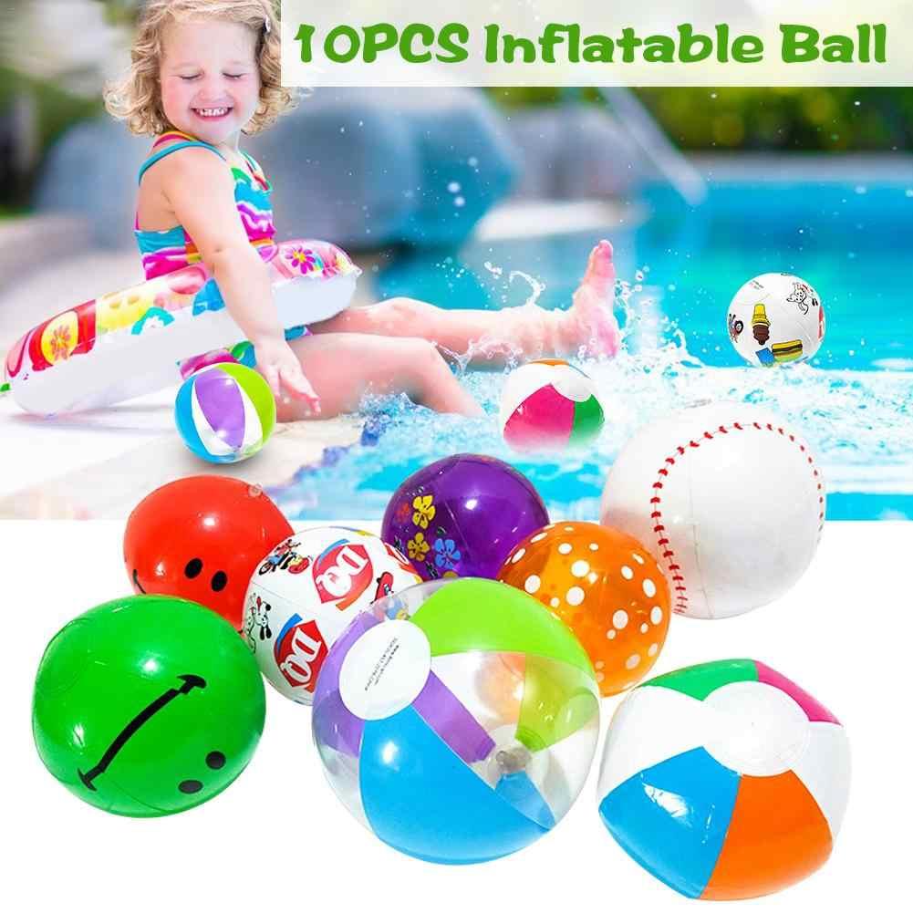 10 шт. новый надувной шар с высоким отскакиванием, игрушка для воды, красочный шар для спорта на открытом воздухе, плавательный бассейн, вечерние, подарок для детей