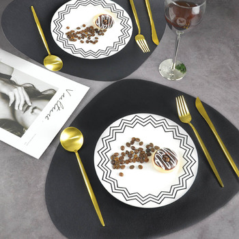 Chic Tableware Pad Placemat PU Leather Table Mat Heat