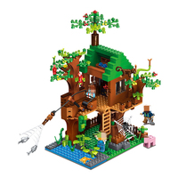 DIY The Fish Island House My World Minecraft 0531 Action Building Blocks Construction Toy Educational Toys For Children