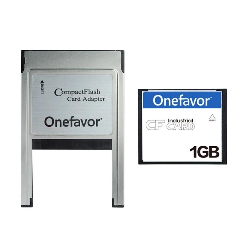 Memory Card 1GB CF Card Compact Flash Compact Flash Card + ATA PC PCMCIA Adapter For Digital Camera Real Capacity Free Shipping|Memory Cards| |  -